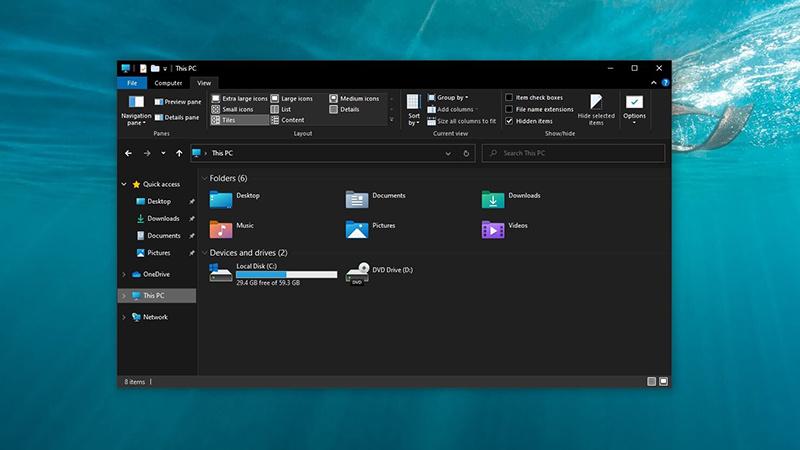 Win10 21H1文件资源管理器新版触摸UI与图标抢先看的照片 - 1