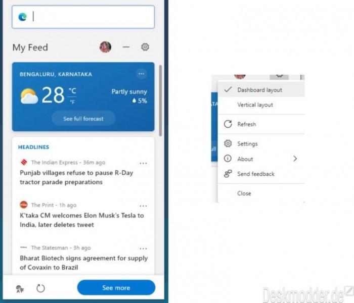 Microsoft Edge网页小部件获得浮动按钮和搜索布局优化的照片 - 2