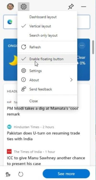 Microsoft Edge网页小部件获得浮动按钮和搜索布局优化的照片 - 4