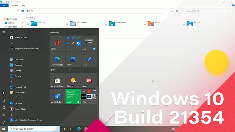 微软发布Win10 Build 21354 ISO镜像