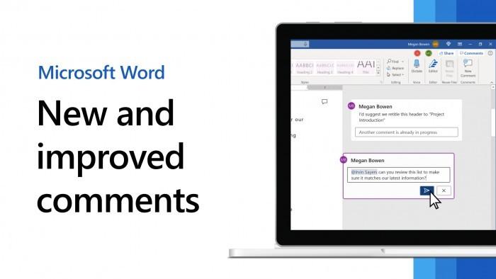 微软为桌面版Word应用程序引入更加现代的评论注释体验