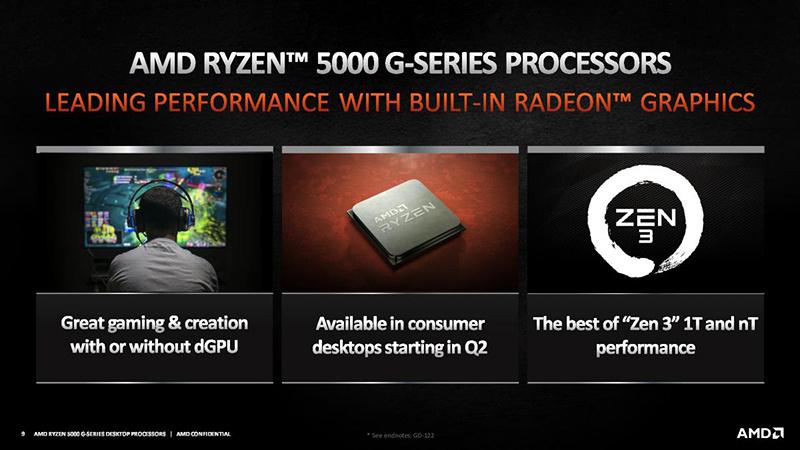 AMD正式推出锐龙5000 Cezanne桌面APU产品线:4/6/8核全覆盖的照片 - 1