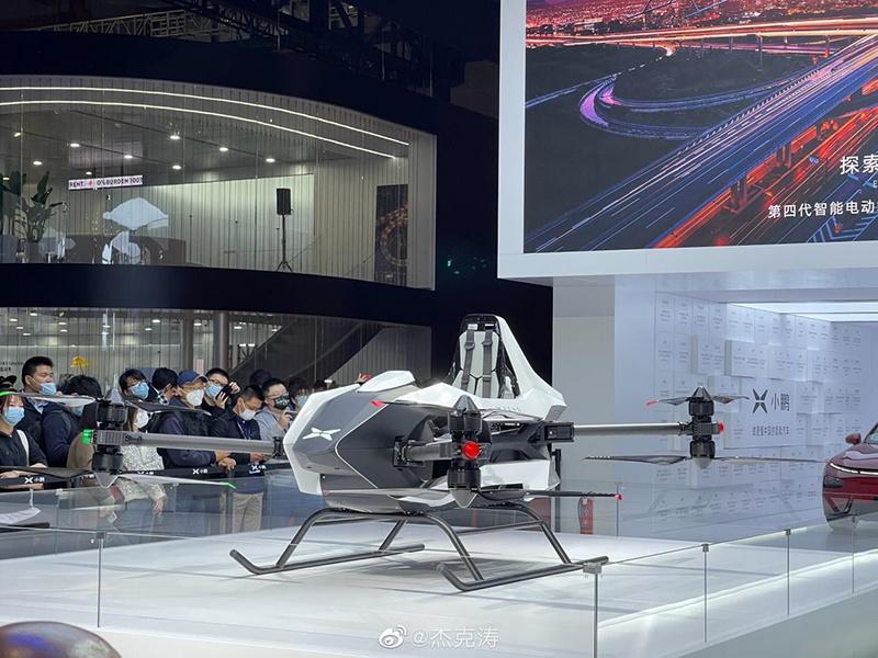 小鹏第五代飞行器亮相:能坐2人 年底开放试乘的照片 - 3