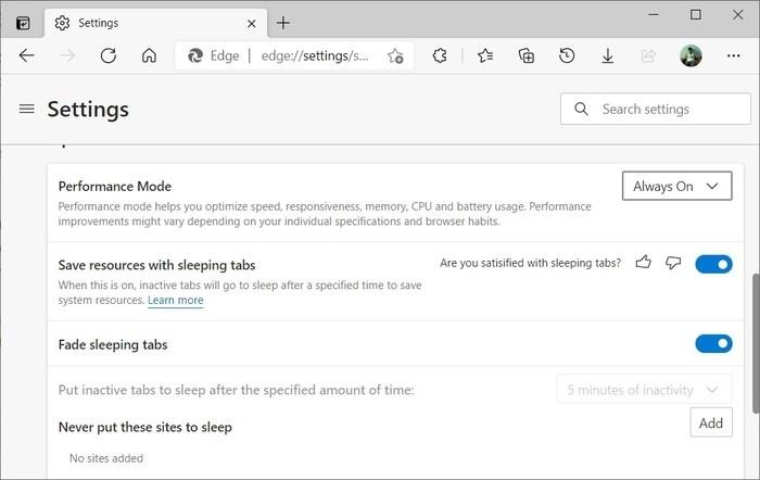比Chrome更好用 Microsoft Edge性能模式下速度更快的照片 - 2