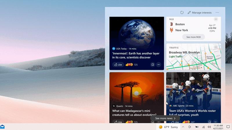 Win10 v1909获可选更新:新增新闻和兴趣功能的照片 - 1