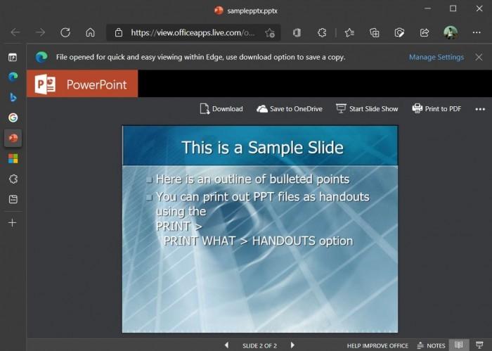 Microsoft Edge浏览器中的Office Viewer功能首次出现的照片 - 5