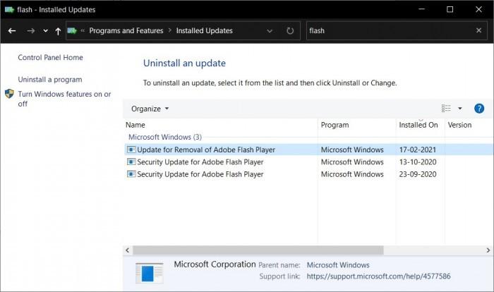 Win10的更新系统将在今年7月彻底删除Flash Player的照片 - 3