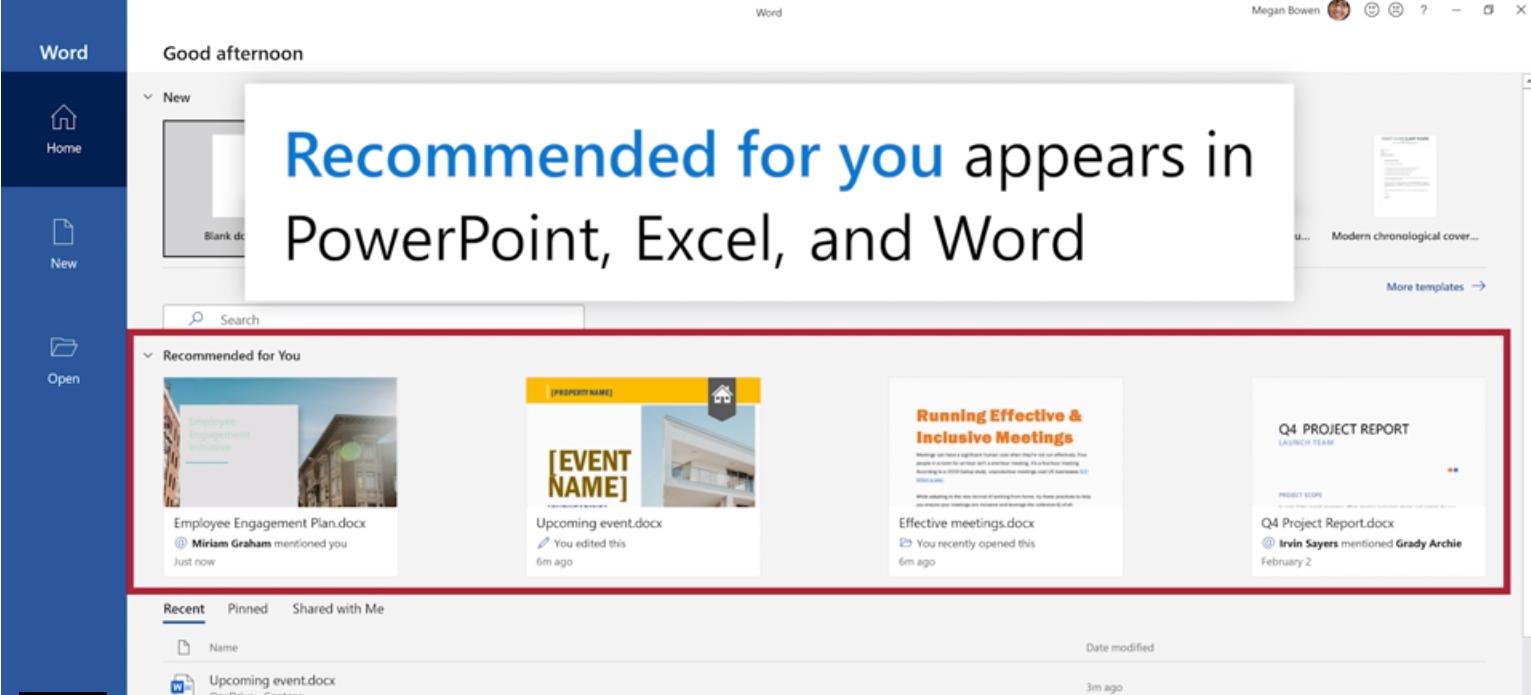 AI指引下的智能推荐文件即将成为微软Office的默认功能的照片 - 2
