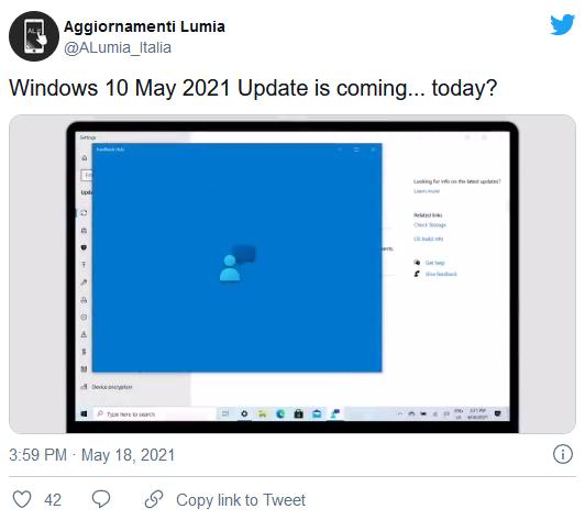 一段泄露的视频表明Win10 21H1版的公开推广即将开始的照片 - 2