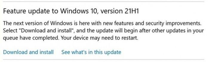 Windows 10 21H1更新的3种方式的照片 - 4