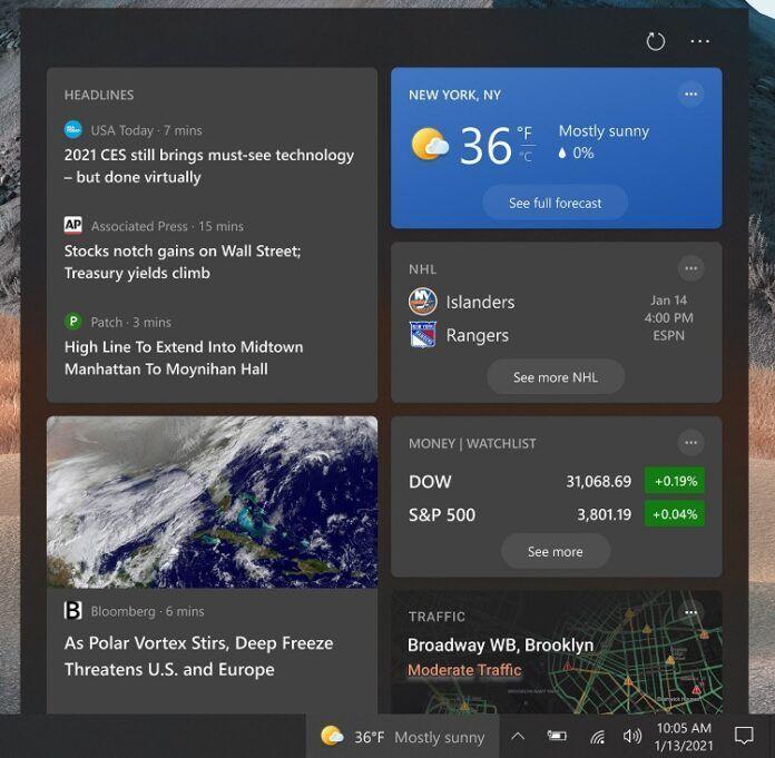 微软Win10新闻和兴趣任务栏已向更多用户推送的照片 - 3