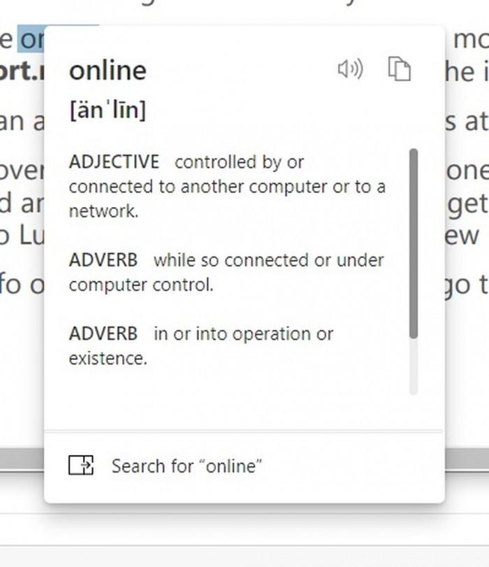 Edge浏览器新增迷你右键菜单 内置在线词典 优化密码监控的照片 - 3