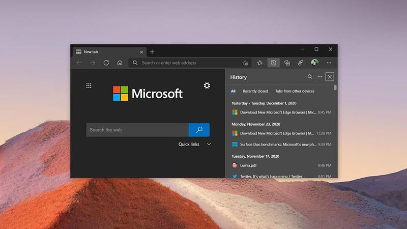 Edge浏览器新增迷你右键菜单 内置在线词典 优化密码监控的照片 - 1
