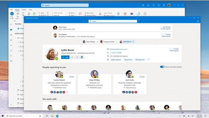 Office预览版发布:为Outlook添加组织资源管理器支持的照片 - 1