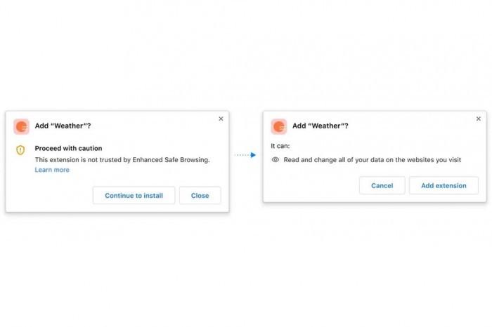 Chrome增强安全属性 使其更容易发现可疑下载和扩展的照片 - 2