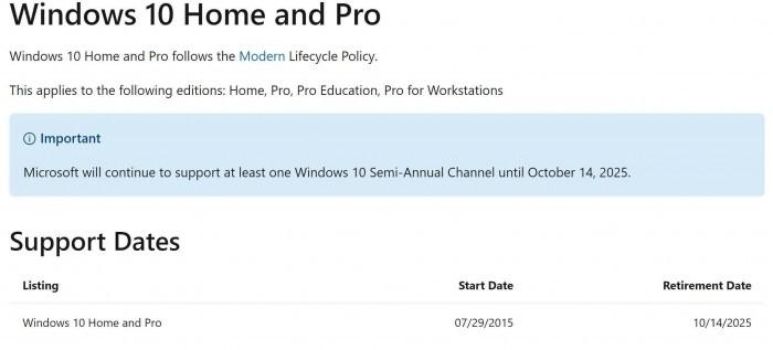 微软于2025年10月14日结束对Win10的整体支持说法系首次提出的照片 - 2