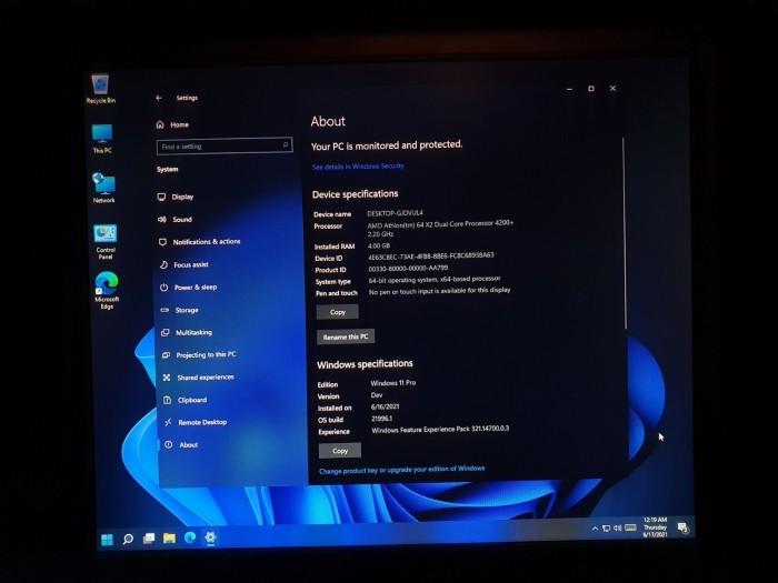 网友实测:Windows 11泄露版在2007年老硬件上运行良好的照片 - 3