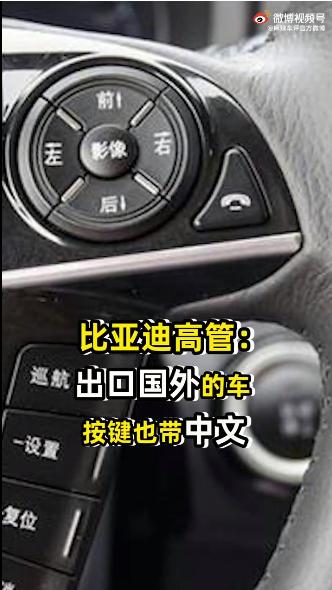 比亚迪高管:出口国外的车按键也带中文的照片 - 2