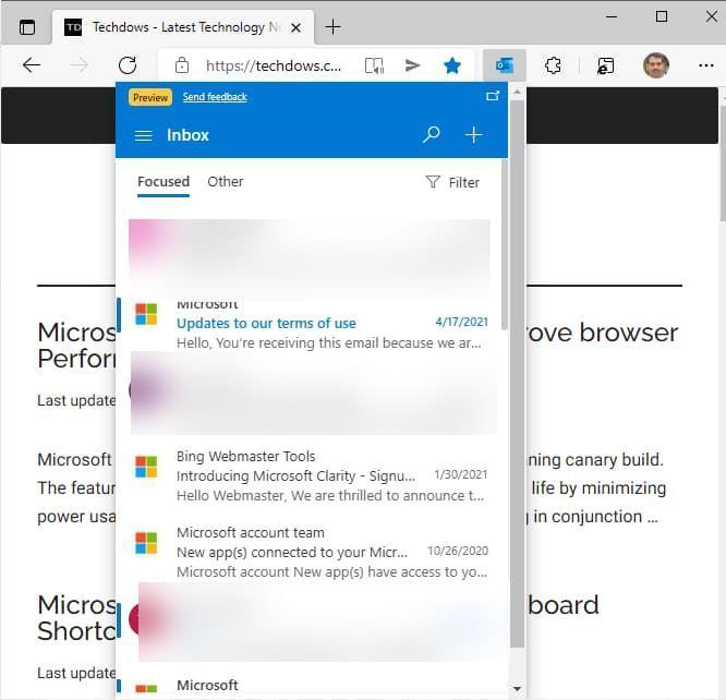 Microsoft Edge扩展程序Microsoft Outlook发布的照片 - 2