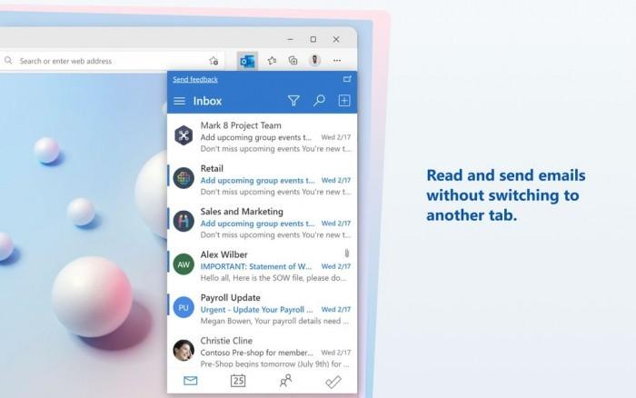 Microsoft Edge扩展程序Microsoft Outlook发布的照片 - 1