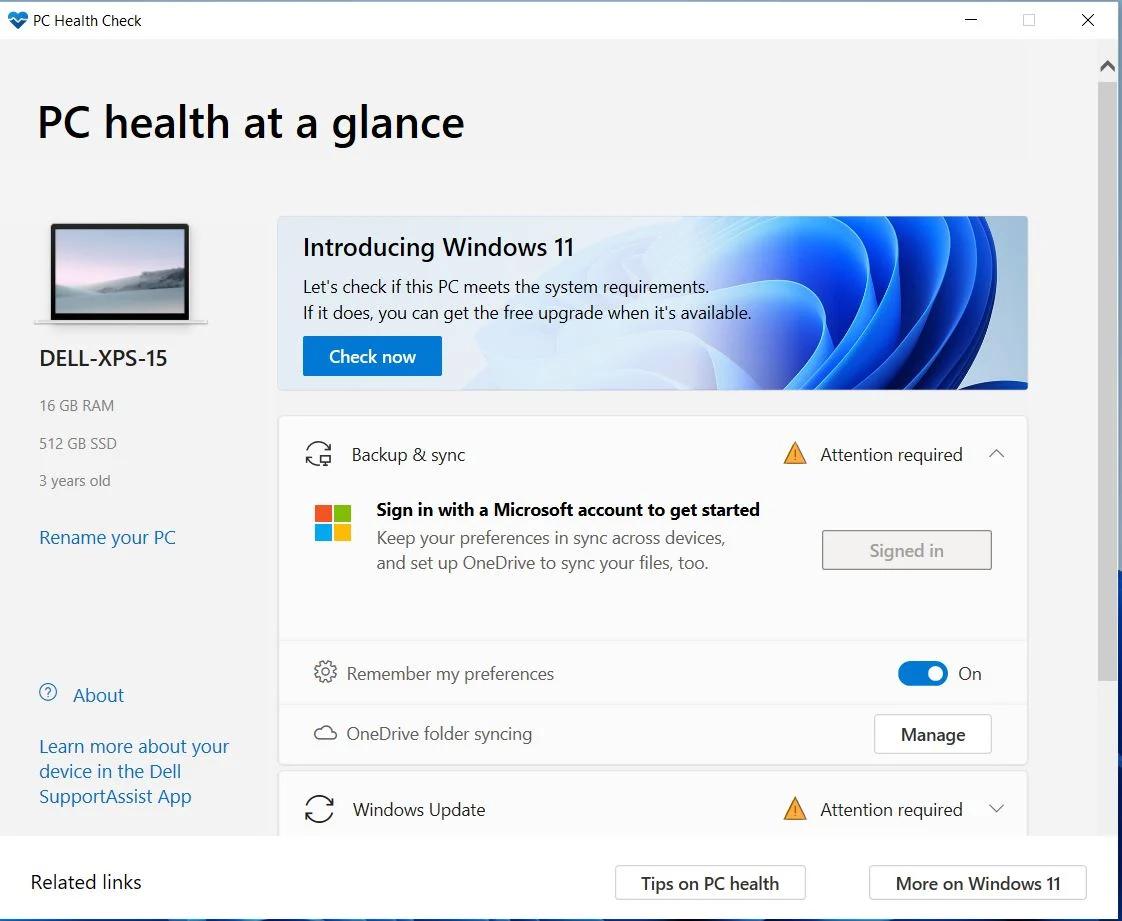 判断电脑是否能运行Win11 微软发布PC检查应用程序