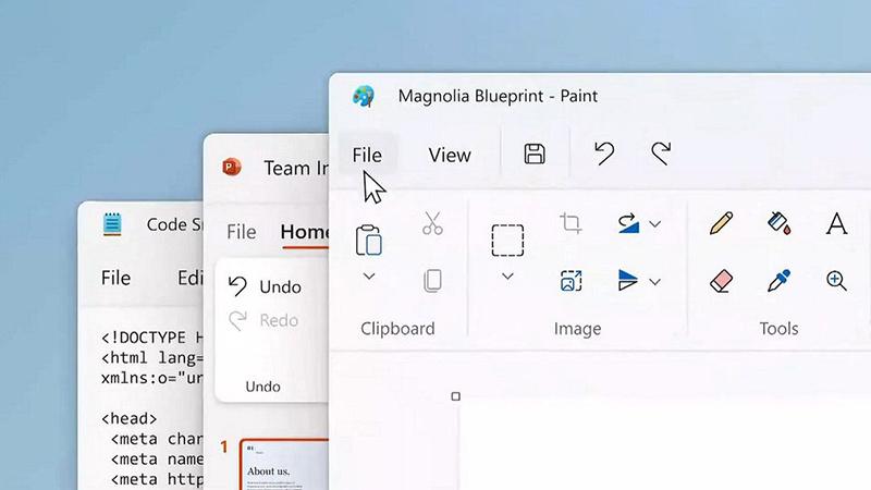 Win11:画图和记事本应用将会获得Fluent视觉升级