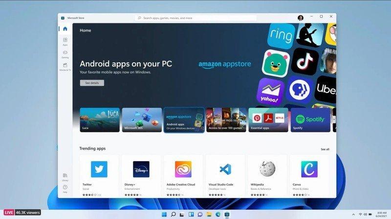 并非所有Android应用都能够在Windows 11上运行的照片 - 1