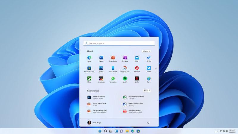 微软不允许用户挪动Windows 11的任务栏