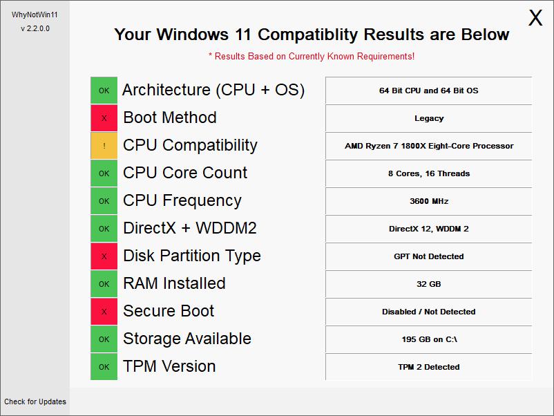 """官方Win11体检工具过于糟糕 开发者自己做了一个""""WhyNotWin11""""的照片 - 2"""