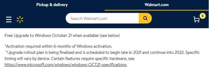 微软和沃尔玛暗示了Windows 11的发布日期