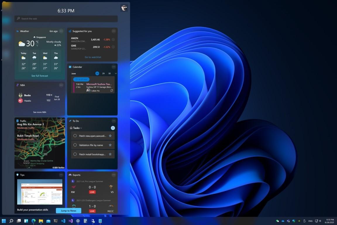 泄露的屏幕截图揭示了Win11中新的黑暗主题效果的照片 - 4