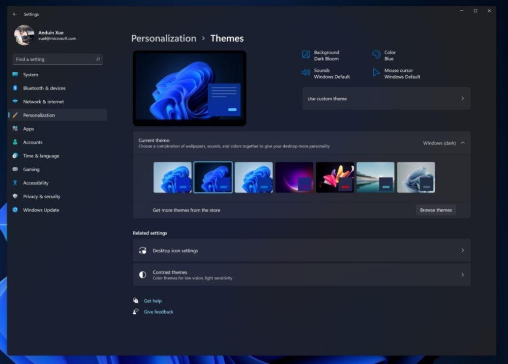 泄露的屏幕截图揭示了Win11中新的黑暗主题效果的照片 - 6