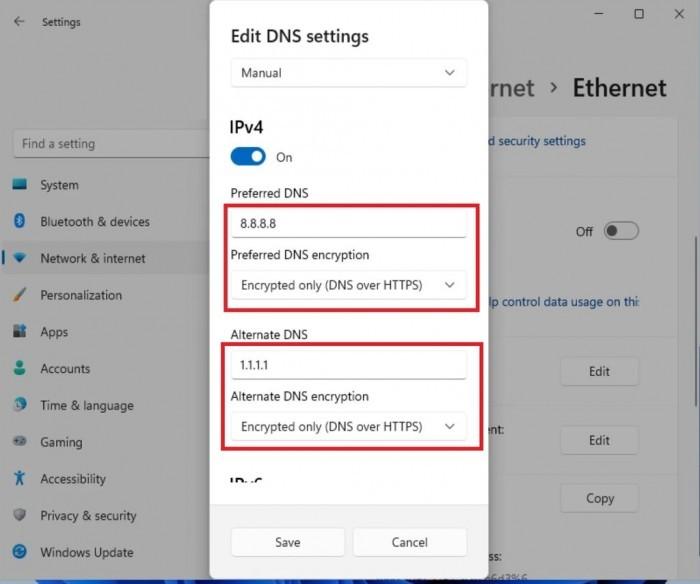 如何在Win11上启用DNS over HTTPS功能的照片 - 5