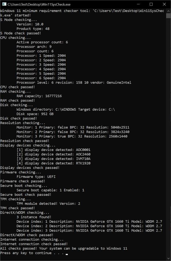 Win11升级体检工具:开源的Win11SysCheck发布的照片 - 2