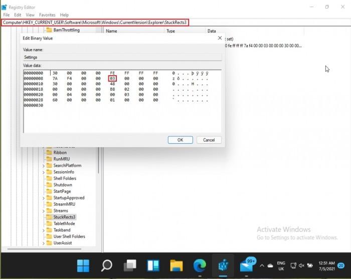 如何将Win11任务栏移动到屏幕顶部