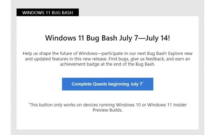 微软:Win11首个Bug Bash已经于7日启动的照片 - 4