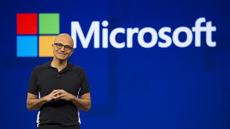 微软CEO谈科技公司垄断:微软站在历史正确的一边的照片