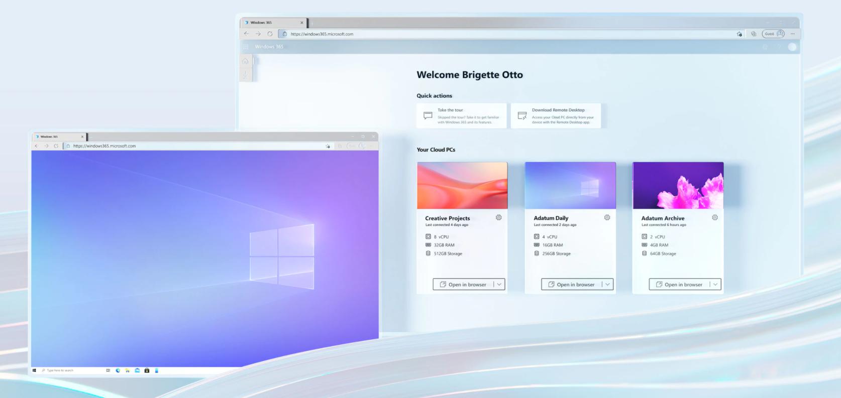Windows 365云电脑配置公布:最高8核、512GB 随时随地访问