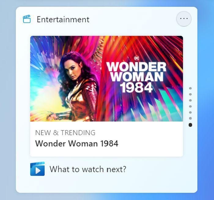 Win11 Build 22000.71发布:引入娱乐小部件 右键菜单启用半透明效果的照片 - 4