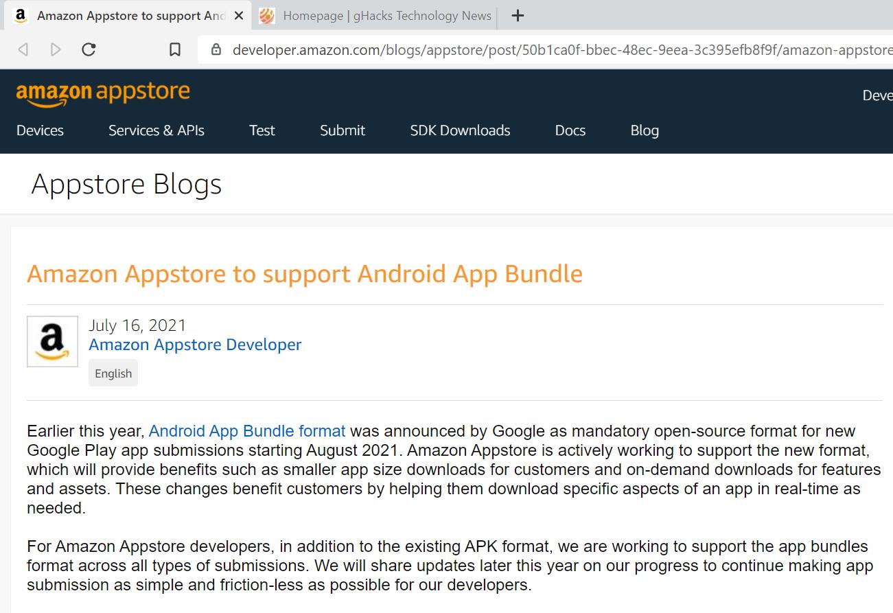 Win11将受益于亚马逊应用商店对App Bundle的支持的照片 - 2