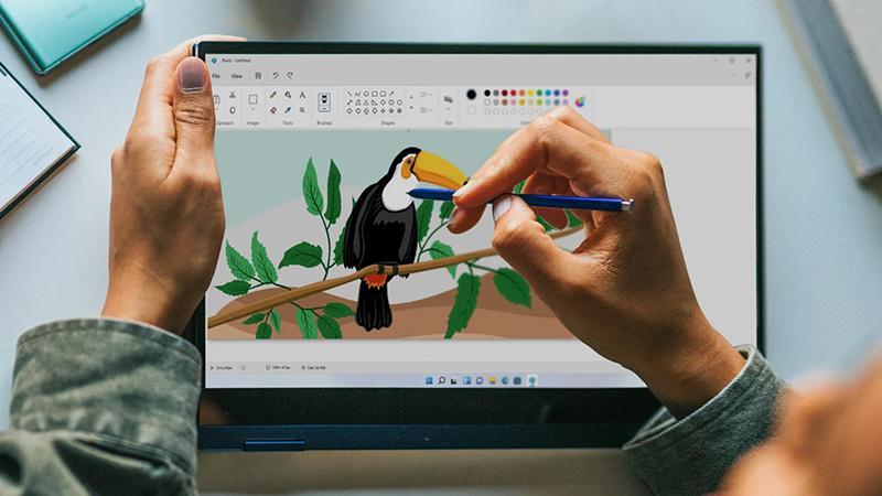 设计师修正图像以预测Win11的画图程序界面