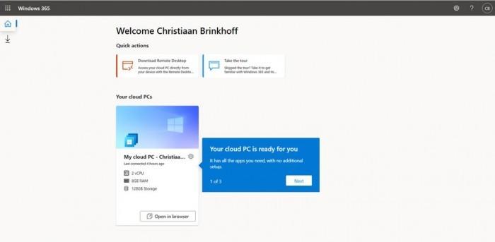 Windows 365 Cloud PC服务正式上线