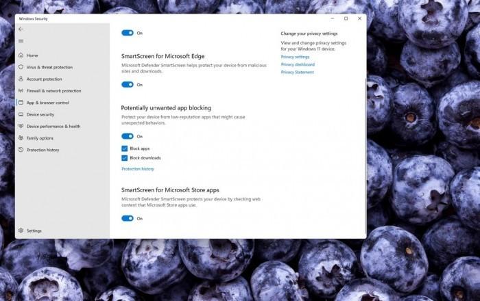 微软:所有Win10设备默认启用潜在有害应用阻止功能的照片 - 2