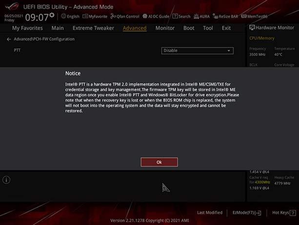 华硕开始推送适配Win11操作系统的主板固件更新的照片 - 5