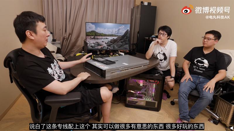王思聪组装了一台百万元电脑:64核心128线程 跑分世界第四的照片 - 1