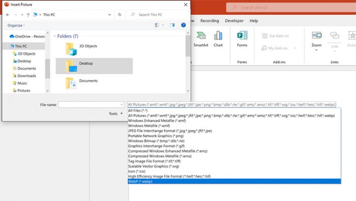 Windows Office Beta Build 14326.20004新增WebP图像格式支持
