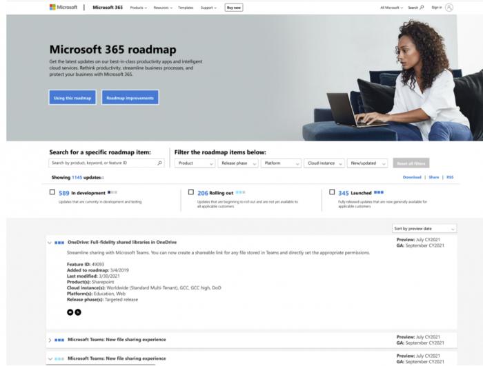 Microsoft 365网站改进 让信息更加清晰明了的照片 - 2