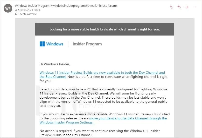 微软称开发渠道新的Win11构建版本将开始不稳定的照片 - 2