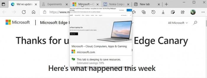Microsoft Edge未来几日将引入新功能 改进睡眠标签等的照片 - 3
