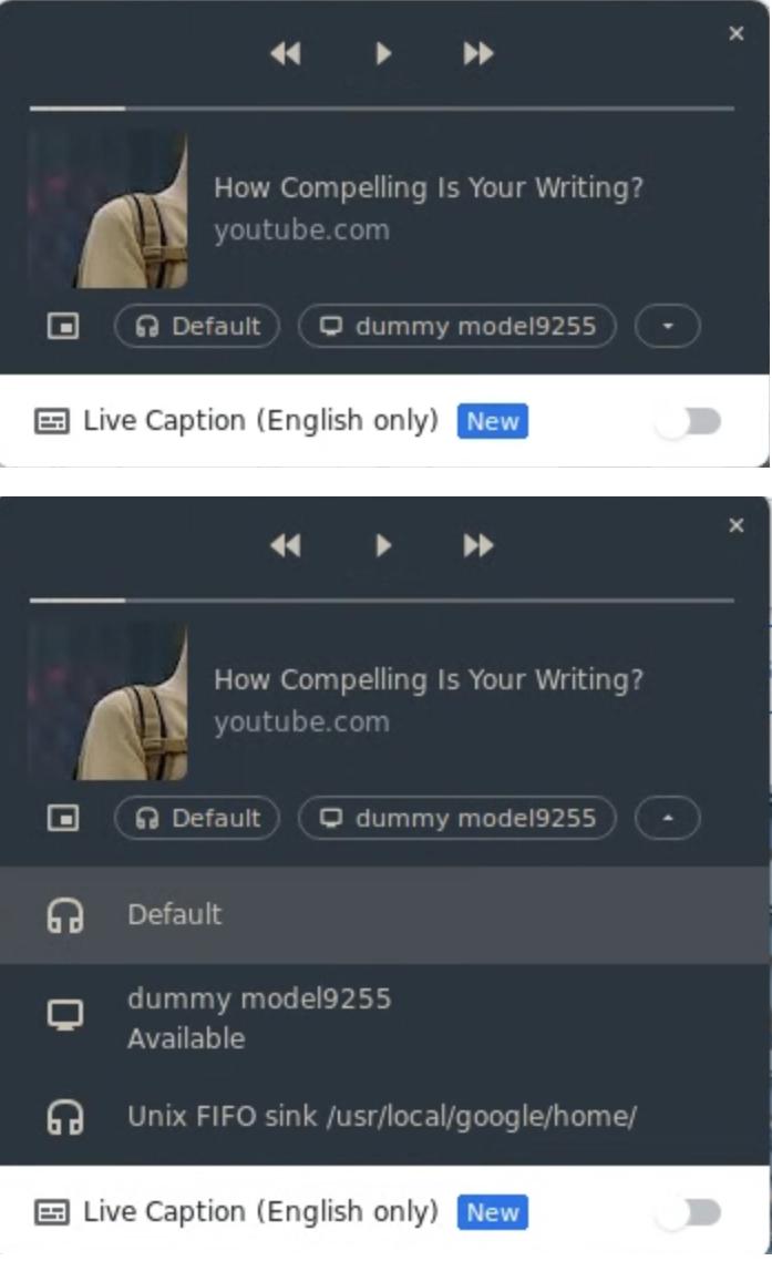 Google Chrome全局媒体控制新增静音按钮